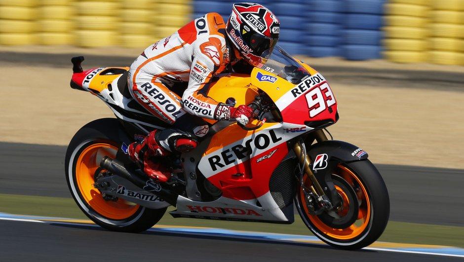 MotoGP - Essais 3 GP de France : meilleur chrono pour Marquez, De Puniet en Q1