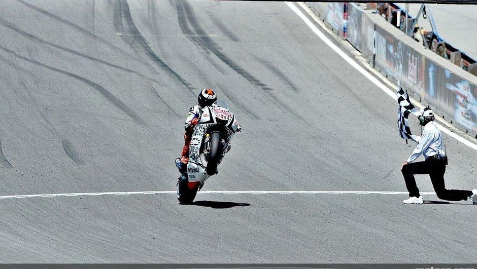 MotoGP : Lorenzo enfonce le clou à Laguna Seca, Pedrosa chute