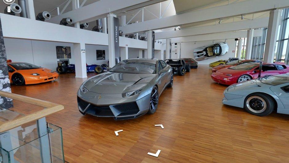 Visitez le musée Lamborghini avec Google Street