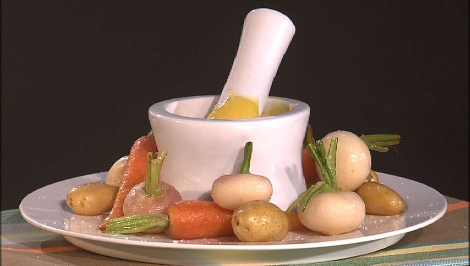 Navets et légumes nouveaux à l'aïoli