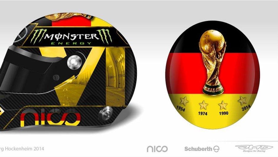 """F1 - GP Allemagne : le casque de Rosberg """"Coupe du Monde"""" refusé par la FIFA"""