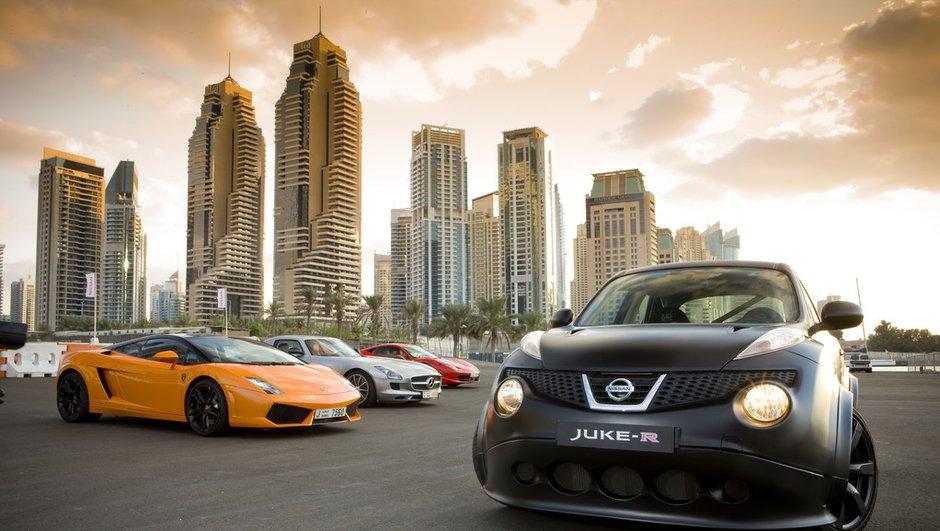 Vidéo : le Nissan Juke-R supercar à Dubaï
