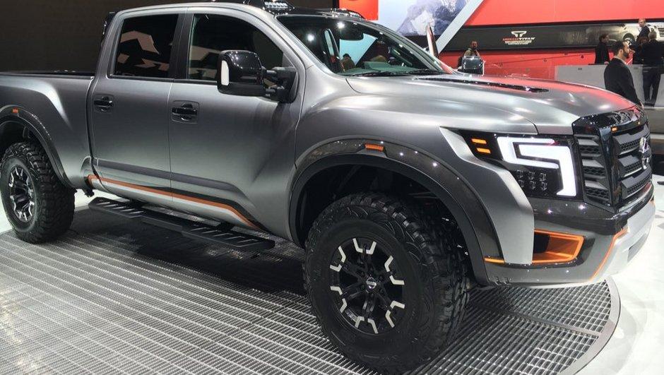 Salon de Detroit 2016 : Nissan dévoile le Titan Warrior Concept, paré pour l'apocalypse