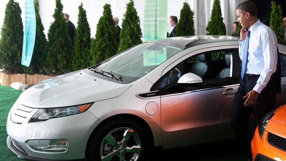 Obama en Chevrolet Volt : le président américain à bord de l'hybride-série