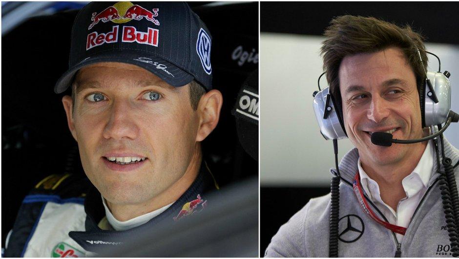 F1 - Toto Wolff veut tester Sébastien Ogier et Valentino Rossi au volant de la Mercedes