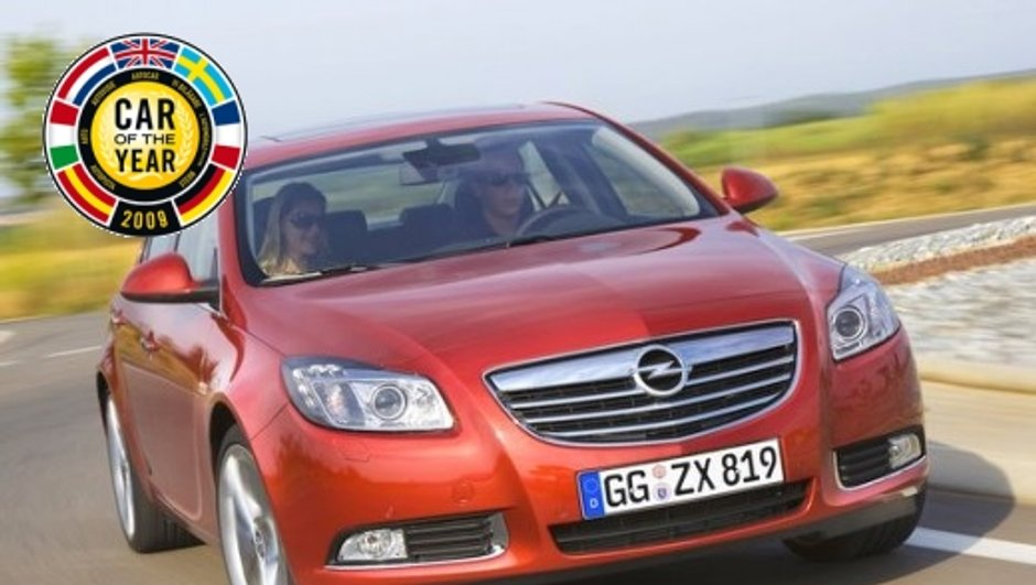 Opel Insignia désignée voiture de l'année 2009