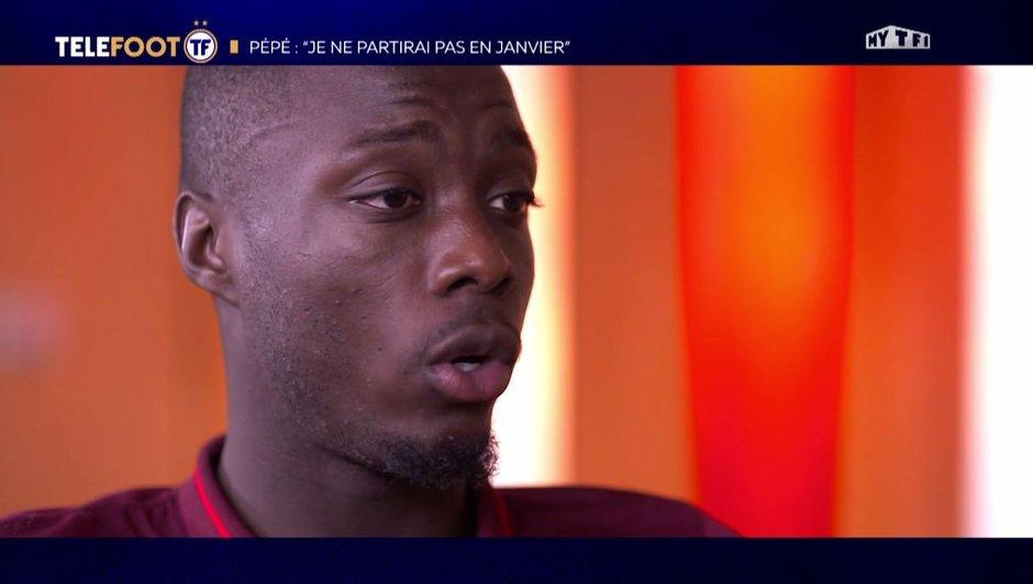 """Exclu Téléfoot 30/09 : Nicolas Pépé : """"Je ne partirai pas en janvier"""""""