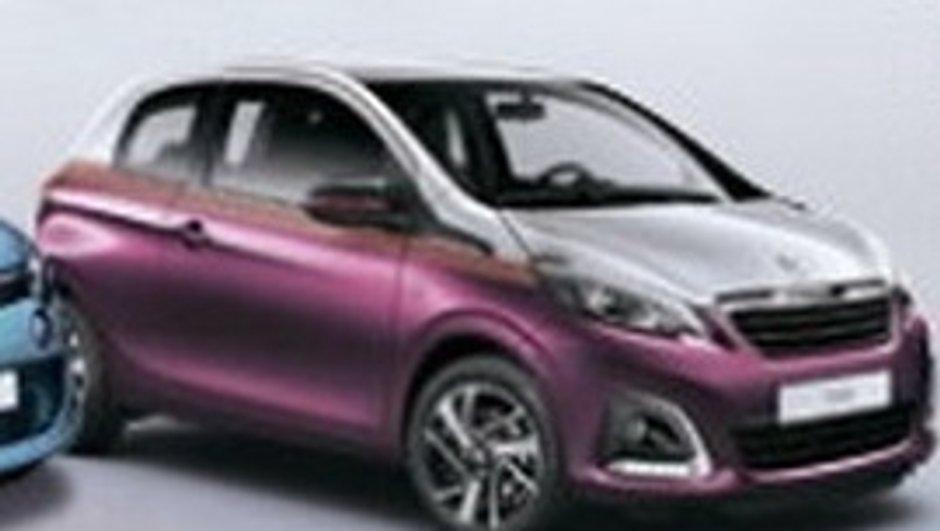 Peugeot 108 2014 : la première photo officielle en fuite