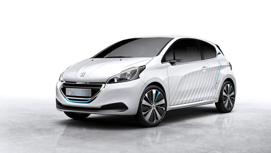 Peugeot 208 Hybrid Air 2L Concept 2014 : un démonstrateur tout en efficience