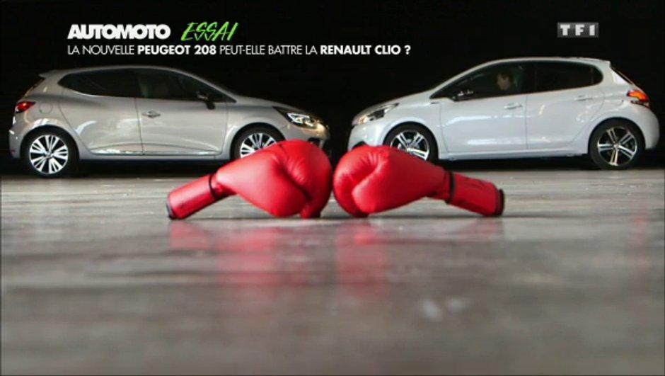 Peugeot 208 VS Renault Clio : le match des citadines est (re)lancé !