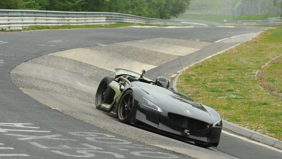 Peugeot EX1 : record électrique au Nürburgring en vidéo