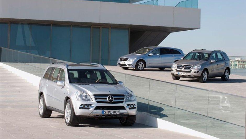 Mercedes GL, ML et R 350 BlueTEC : ils débarquent en Europe !