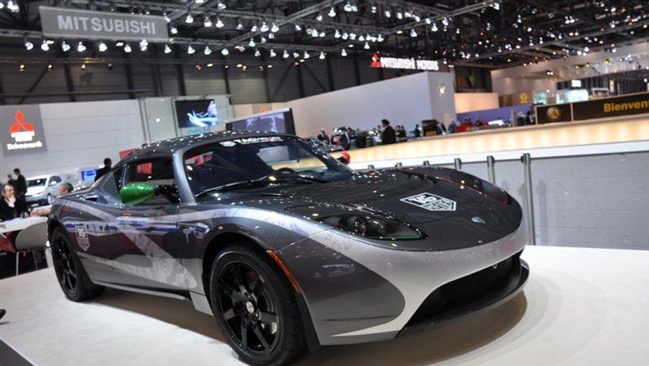 Salon de Genève 2010 : Tesla Roadster Tag Heuer