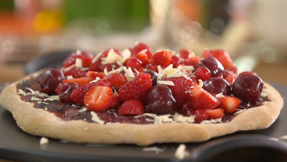 Pizza aux fruits rouges