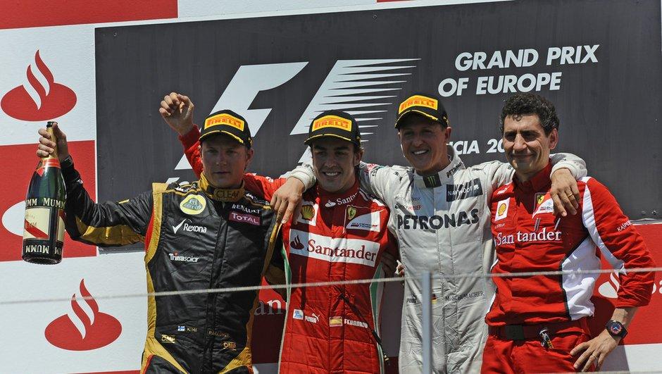 F1 : les classements après le GP d'Europe 2012