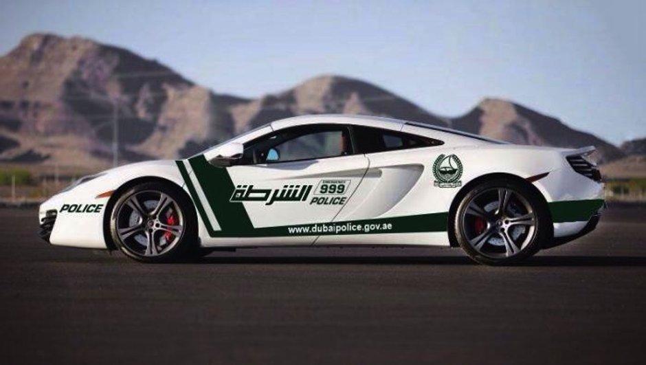Insolite : La police de Dubaï s'offre une McLaren MP4-12C pour Noël