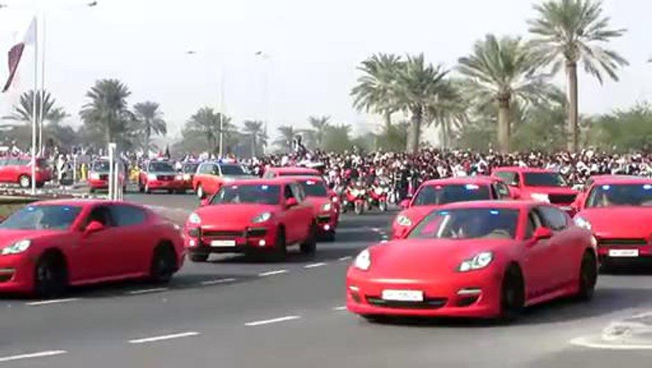 Au Qatar, la police fait défiler ses Porsche !