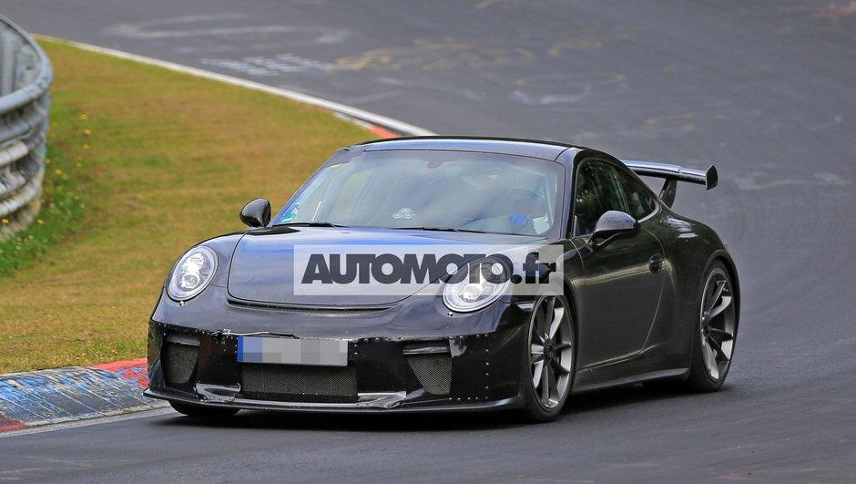 Scoop : la Porsche 911 GT3 2017 en camouflage