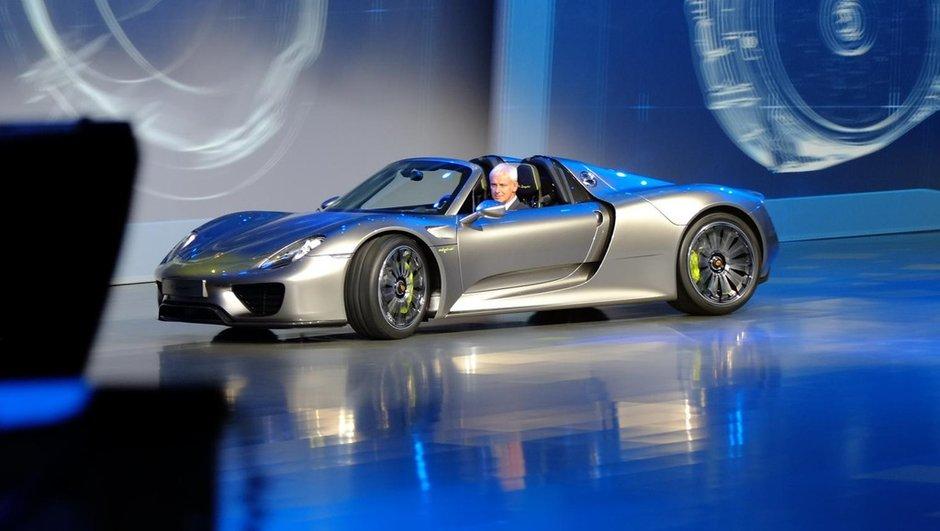Salon de Francfort 2013 : la Porsche 918 Spyder entre en scène