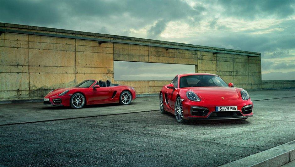 Nouvelles Porsche Boxster et Cayman GTS 2014 : les premières photos et infos officielles