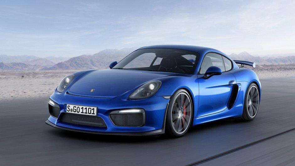 Nouvelle Porsche Cayman GT4 2015 : moteur de 911 Carrera S, look de GT3