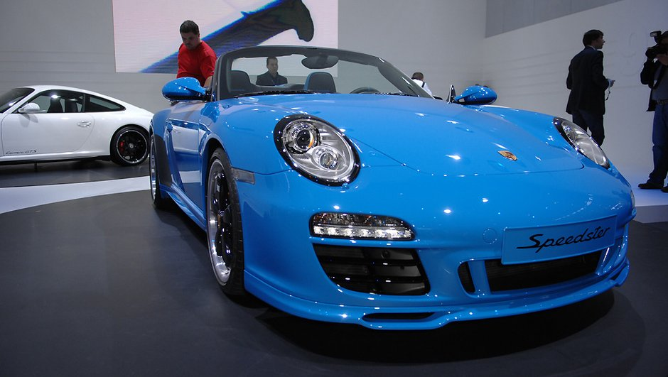 Mondial de l'Auto 2010 : Porsche 911 Speedster, l'héritière en série limitée