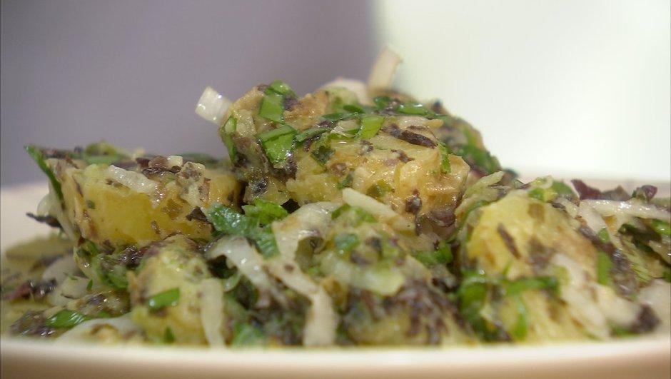 Bonnottes de Noirmoutier en vinaigrette d'algue