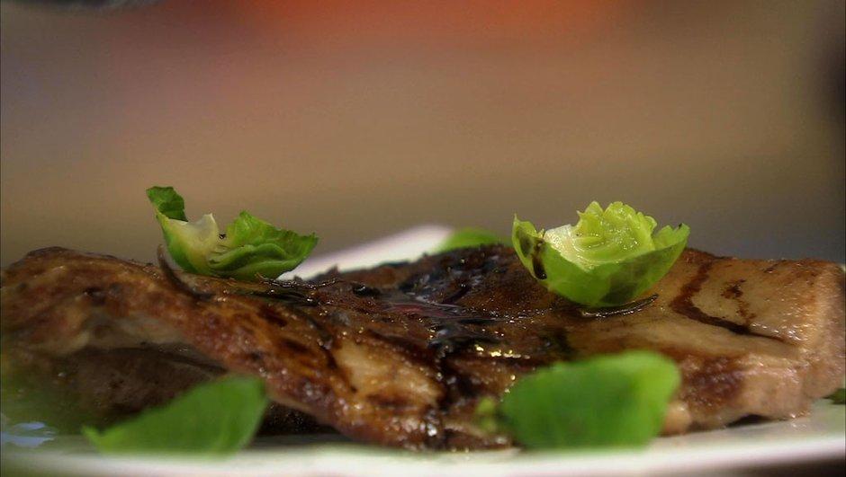 Épigramme d'agneau grillé au balsamique