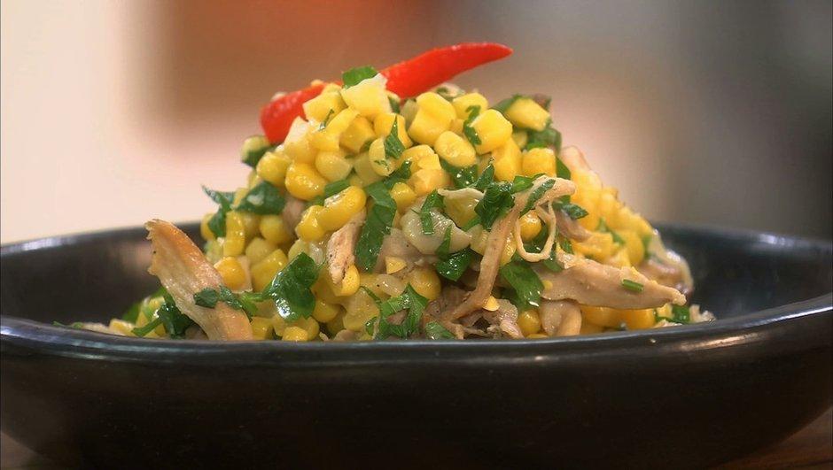 Poulet aux maïs façon chili con carne
