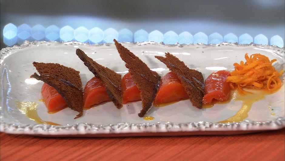 Carottes au pain d'épice et à l'orange
