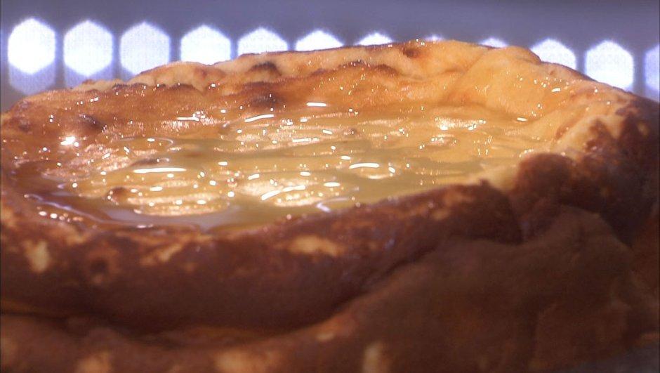 Gâteau au fromage blanc au miel