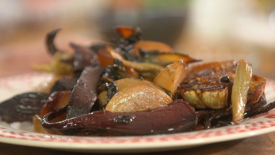 Légumes anciens rôtis et confits au four