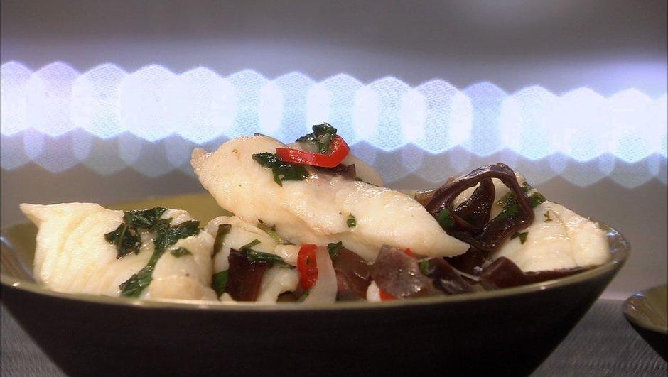 Filets de limande aigres-doux au wok