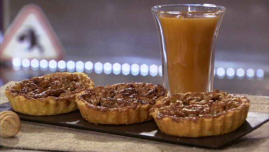Tartelette aux noix et au miel épicé