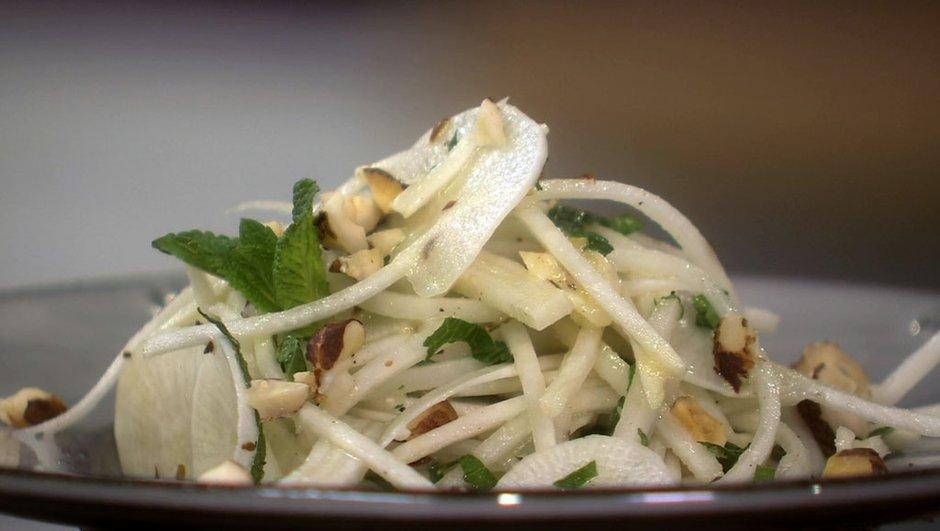Salade de navet du Pardailhan cru au pélardon