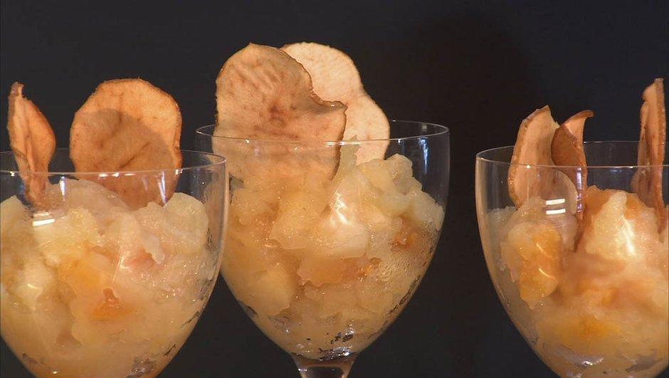 Compote de pomme croquante
