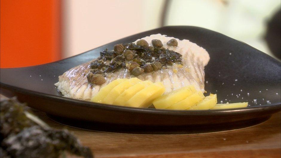 Aile de raie au beurre d'algues