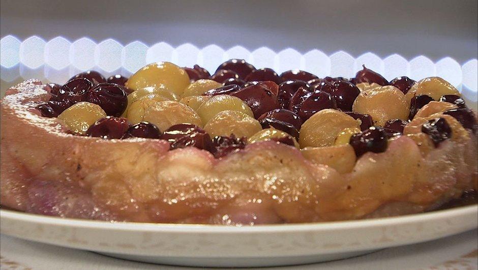 Tarte feuilletée au raisin et anis vert façon Tatin