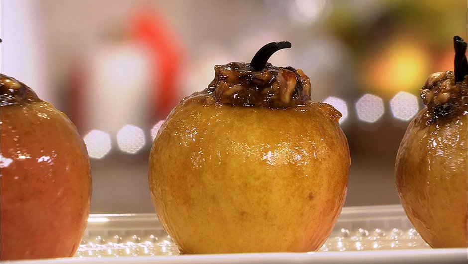 Pommes au four à la confiture de prunes