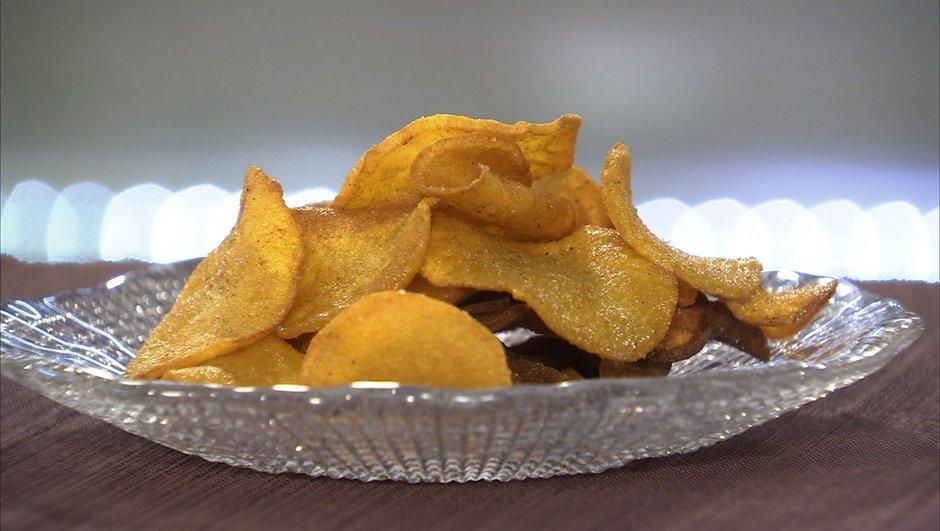 Chips de rutabaga au curry