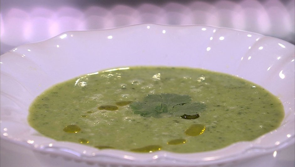 Soupe froide de courgettes au Kiri