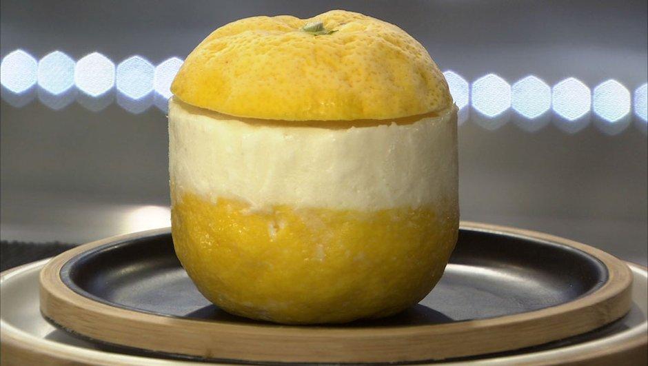 Yuzu givré au fromage blanc