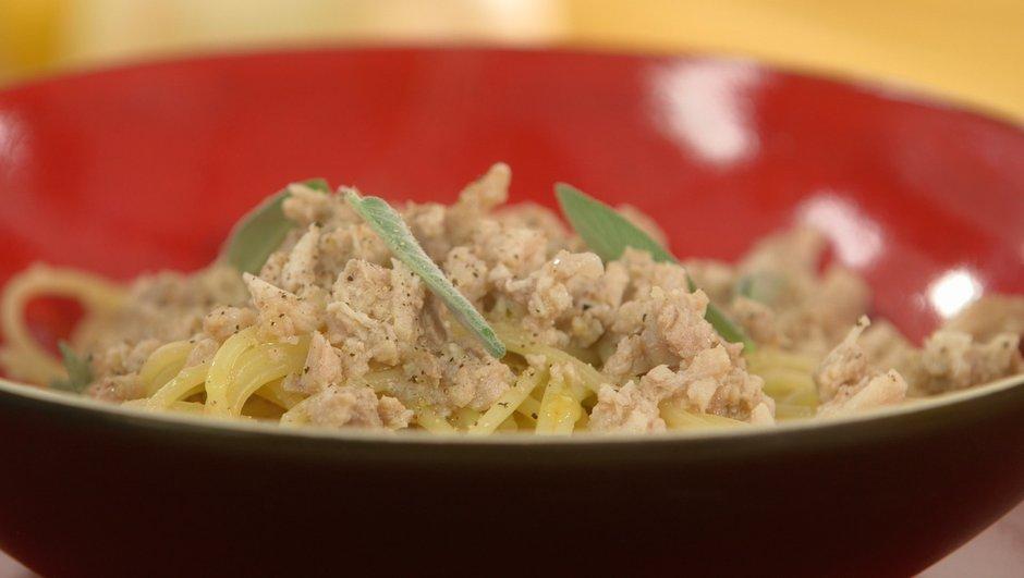 Spaghetti au ragoût blanc