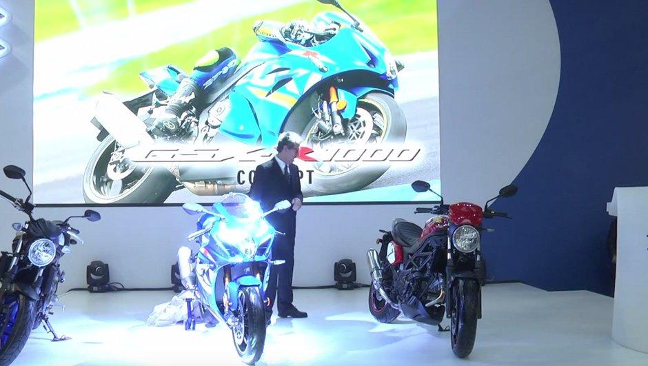 Salon Milan EICMA 2015 : Nouvelles Suzuki GSX-R 1000 Concept, VanVan 200 et SV 650