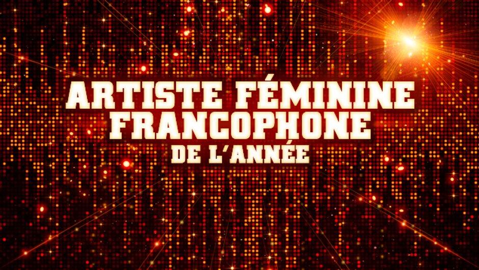 Artiste Féminine Francophone de l'année - Pré-nominations - NRJ Music Awards 2013
