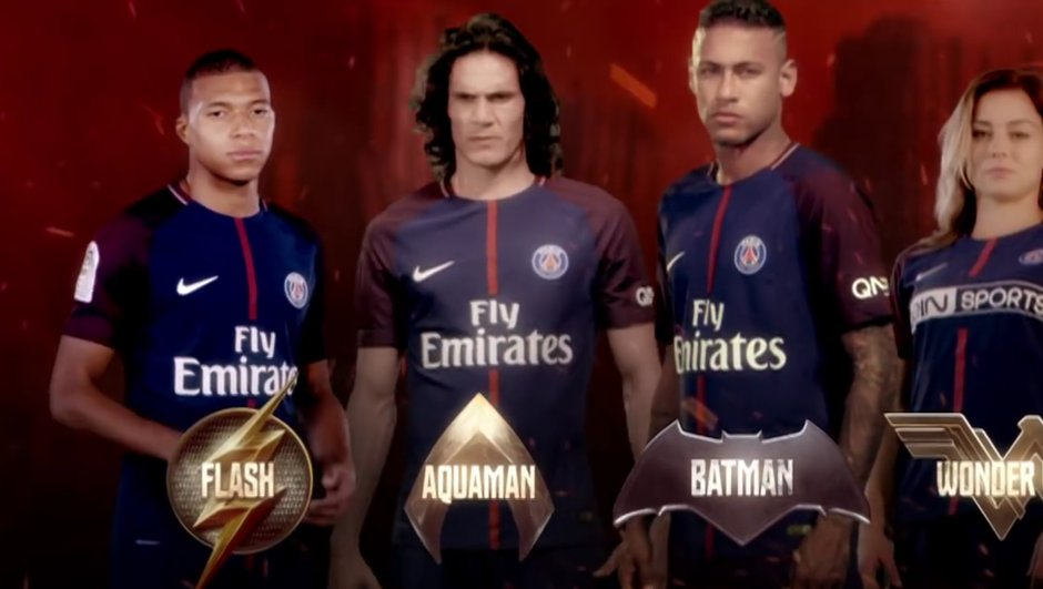 Insolite : quand les joueurs du PSG croisent les super-héros du film Justice League