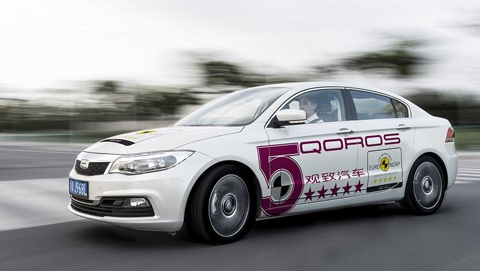 Qoros 3 Sedan : meilleure note au crash-test EuroNCAP 2013