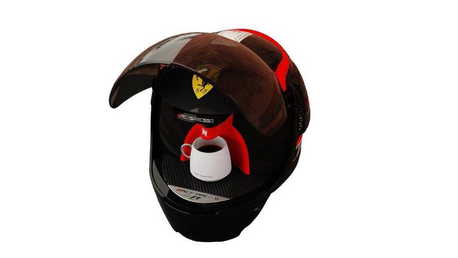 Insolite : Racepresso, le casque pour des cafés de compétition