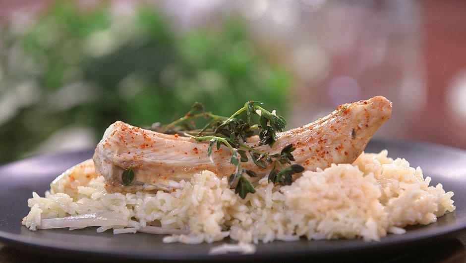 Saumonette et riz pilaf