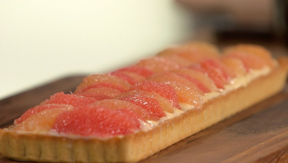 recette tarte sabl e au pomelo petits plats en equilibre tf1
